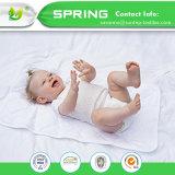 赤ん坊の防水変更はさみ金およびカバーベビーベッドのパッドの有機性綿のマット