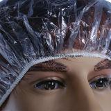 Protezione di acquazzone a gettare del PE trasparente, protezione rotonda di plastica dei capelli della protezione di acquazzone dell'hotel
