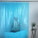 Tenda di acquazzone ecologica di EVA con effetto del cubo 3D dell'acqua per il bagno