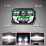 linterna alta-baja 4X4 del carro LED de la viga 7inch de la linterna de 5X7 LED