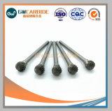 Grewin nítidas de alta calidad herramientas rotativa de carburo ranurado Metal fresa de diamante con una caja de plástico