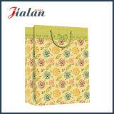 Modèle fait sur commande de ventes en gros de logo d'impression de fleur annonçant le sac à provisions de papier