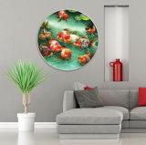Illustration animale de peinture de toile de pétrole d'art de mur pour la décoration