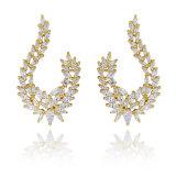 De Juwelen van de manier in Oorring van het Zirconiumdioxyde van de Kwaliteit Hight 18K de Goud Geplateerde