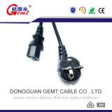 Cuerda coreana de la corriente ALTERNA del estándar C19 16A