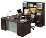 Moderner lamellierter Spanplatten-Computer-Schreibtisch mit Regal-Preis (SZ-OD217)