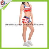 Medias Cheerleading sublimadas de encargo del desgaste de la práctica de la venta de los uniformes calientes de la animadora