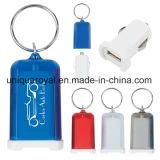 小型USB車の充電器のキーホルダー