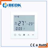 Termostato programmabile del condizionamento d'aria dello schermo di tocco per l'unità della bobina del ventilatore