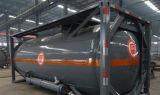 ISO 20 pies de acero al carbono csc/gasolina/diesel de petróleo crudo contenedor cisterna