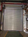 Disco rígido rápido de alumínio seguro comercial Industrial Porta de Giro