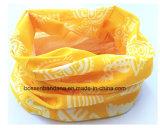 工場OEM農産物によってカスタマイズされるプリントポリエステル黄色のスキー首の管のヘッドスカーフ