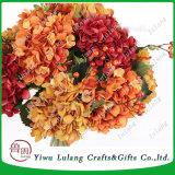 Flor artificial Centro de disposición de la boda de seda Hortensia flores de plástico