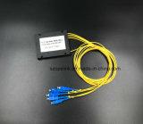 연결관을%s 가진 광학 섬유 케이블 Gpon 원거리 통신 1X4 플라스틱 상자 PLC 쪼개는 도구