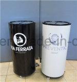 Puede mostrar en forma de nevera congelador ronda barril Enfriador de bebidas