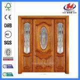 Дверь твердой древесины гравера мастера самая лучшая роскошная деревянная (JHK-003CS)