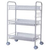 Ajustável de 3 níveis de armazenamento de cozinha Carrinho Carrinho de malha