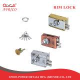 El cilindro de latón en clave Lockset cerradura de puerta con pomo de puerta de madera