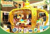 O passeio do Kiddie do parque de diversões alegre vai carrossel do círculo para a venda