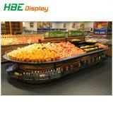 Супермаркет деревянные овощей фруктов дисплей для установки в стойку