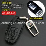 La housse en cuir noir de la chaîne porte-clés Sac de couvercle de carter de porte-clés Mettre en place pour Audi