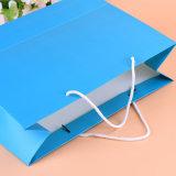 Напечатанные таможней мешки бакалеи бумажные с ручкой