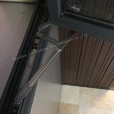 Le sable gris aluminium à revêtement d'alimentation de la fenêtre à battant avec le verre trempé