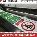 matière composite en aluminium d'enduit de 3mm Pet/PVDF pour le Signage