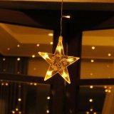 Теплый белый IP44 звезд светодиодный занавес лампа