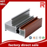 Profil en bois en aluminium/en aluminium de peinture pour le guichet/portes de Galss