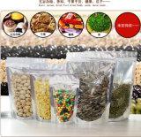 Aluminiumfolie-Verpackungs-Ventil-Reißverschluss-Beutel/freier silberner wiederverschließbarer Plastik-Selbstreißverschluss-Verschluss-Beutel für Süßigkeit-Kaffee