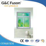 Grano de madera ventanas de aluminio con Famouse Hashtag (Fuson)