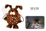 Figura animal decoración del perro de la escultura del metal del jardín