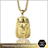 Pendente feito sob encomenda chapeado ouro do Pharaoh do aço inoxidável de Missjewelry 18K