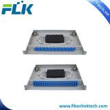 """Тип 19 """" 1u ящика приложения пульта временных соединительных кабелей держателя шкафа оптического волокна"""