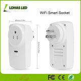 Travail de fiche de sortie de WiFi le mini avec Smartphone/Amazone Alexa/Google autoguident l'adaptateur de fiche intelligent de WiFi