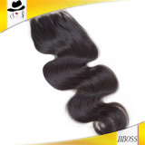 ブラジルのバージンの毛のボディ波4*4laceの上の閉鎖
