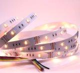Ce & RoHS Rgbww cinco colores 5 fichas en una franja colorida lámina flexible de luz LED cambia