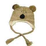 子供の子供のかわいい冬のコアラの印刷の暖かい編まれた帽子の屋外のEarflapのかぎ針編みはキャップするヘッド耳のウォーマーのスキー飛行士の帽子(HW614)を
