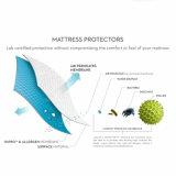 キルトにされた100%年の綿の上層の防水マットレスの保護装置