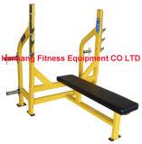 machine de gymnase, matériel de forme physique, force de marteau, culturisme, banc plat olympique (HS-4007)