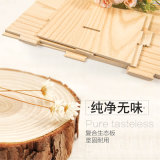 Titular de la revista de bricolaje en madera con cajones y titular de la pluma