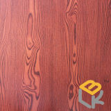 Papel impregnado melamina decorativa de madera del grano del sauce para el suelo, la puerta, los muebles y la chapa del fabricante chino