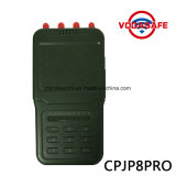 De Mano de alta potencia de salida 8 antenas celular Jammer, profesional de alta calidad de señal Jammer con batería