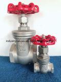 200wog Литые стальные 304 / 316 резьбовой запорный клапан