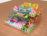 Стекловолоконные сдвиньте детская игровая площадка для установки внутри помещений