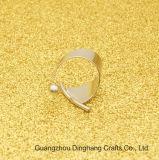 Ring van de Parel van de zilveren-Kleur van de manier Rhodium Geplateerde Open Buigende voor de Unisex- Eenvoudige Juwelen van Juwelen