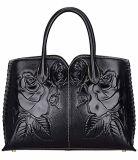 Il cuoio dell'unità di elaborazione imprime i sacchetti di modo della borsa della signora Handbag Ladies Handbags Designer del fiore (WDL01488)
