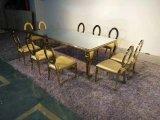 Acero inoxidable de oro de la boda de estilo europeo muebles utilizados para el moderno restaurante