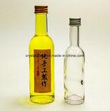 Miniglasflasche des spiritus-50ml für Alkohol mit Aluminiumüberwurfmutter-Großverkauf